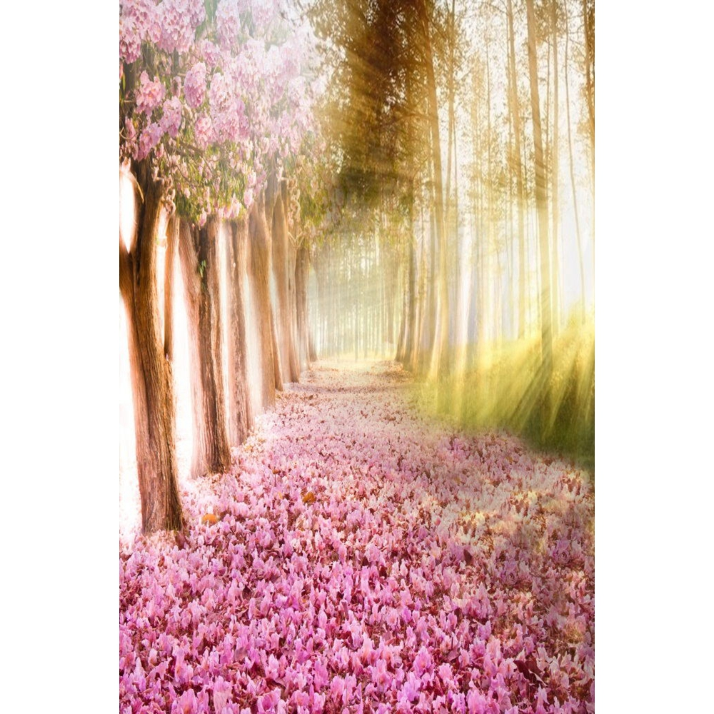 Yeele Alise Princes Wonderland Fallen Flowers Road Photography Backgrounds Personalized Photographic Backdrops For Photo Studio in Background from Consumer Electronics