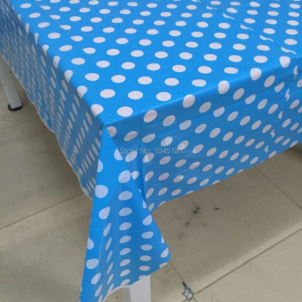 Ipalmay Free Shipping 10pcs Polka Dot Party Tablecloth BBQ Christmas  Birthday Wedding Table Decoration PE Tablecloth