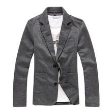 2016 модный человек качество Slim Fit Досуг Хлопок Вязание маленький костюм/мужской однобортный пальто/мужские Пиджаки для женщин