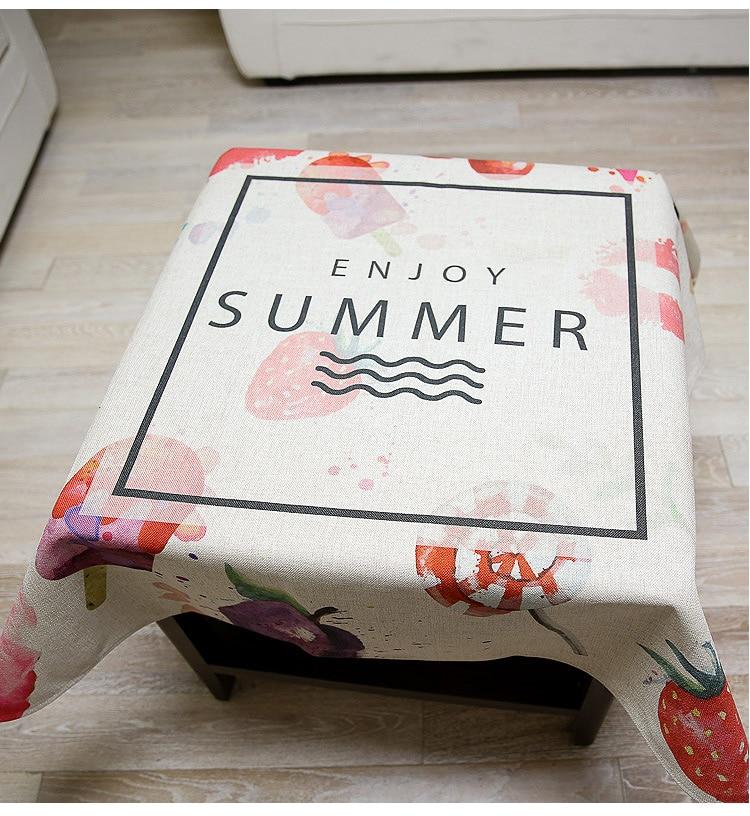 Tablecloth Rectangular Round Square Linens Nappe Cotton Decoration doily drap pad placemats fabric cover Cloth Table QQO646