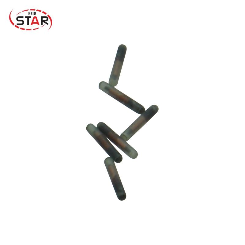 10pcs/lot Smallest Rfid Microchips 1.25*7mm FDX-B ISO11784/5 134.2KHz RFID Microchip Transponder EM4305 Chip For Small Animals
