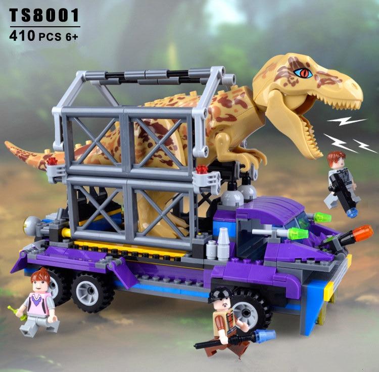 400 pièces éducatif petit granule bloc de construction jouets capturer le dinosaure tyrannosaure jouet bébé enfants cadeau d'anniversaire