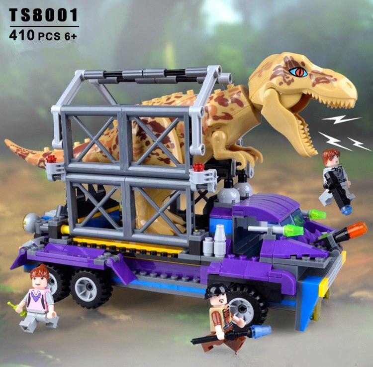 400 pièces éducatifs petit granule bloc de construction jouets capturer le dinosaure tyrannosaure jouet bébé enfants cadeau d'anniversaire