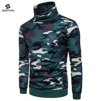 2017 Nieuwe Mode Heren Camouflage TShirt Pocket Patchwork Lange Mouw T-shirt Mannen Top Kwaliteit Merk Kleding Katoen Tees Tops
