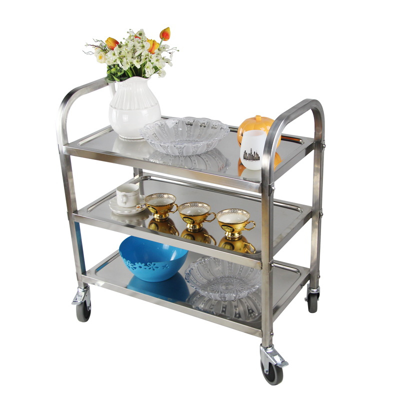 US $67 15 30% OFF|YONTREE 1PC 201 Stainless Steel Dinning Car Non magnetic  Multifunctional Trolley Sreving Cart Stock in US HW055 NJ-in Storage