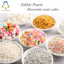 20g Colorful Beads Edible Pearl Sugar Ball Fondant DIY Cake Naking Silicone Chocolate Decoration Sugar Candy Fimo Clay GYH(China)