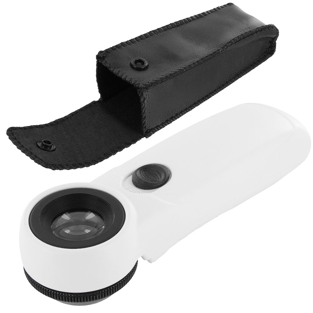Fixmee 40 X Magnifier 21mm Glass Magnifying Lens Jewelry Eye Loupe Loop Led Light