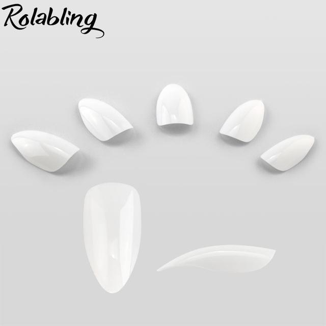 500pcs/set White & Natural & Clear Nails French Stiletto Fake Nail Tips Full Cover Acrylic Artificial False nail tips