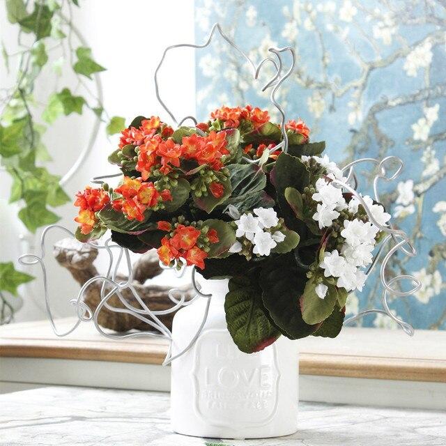 European Artificial Longevity Flowers Bouquet Simulation Silk Flowers Home Garden  Decor Accessories