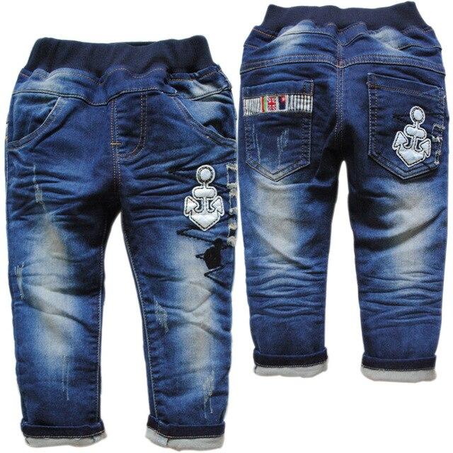 6199 ДЕТСКИЕ джинсы мальчик ДЖИНСЫ случайные штаны детей брюки весна и осень мода новый синий детские джинсы