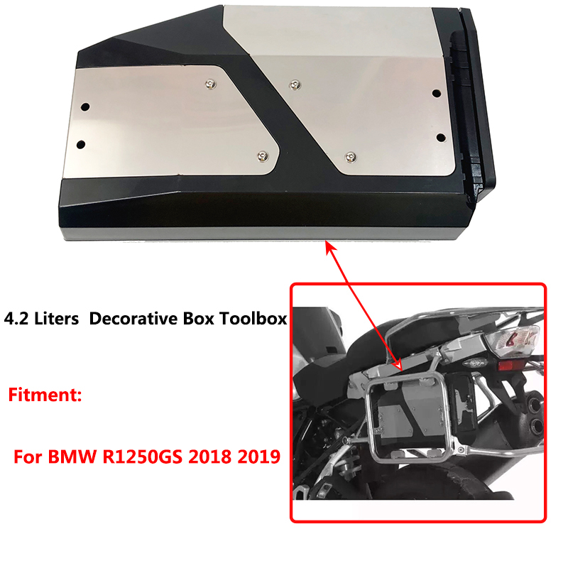 R1250GS All New For BMW R1250GS 2018 2019 Decorative Alloy ABS completely waterproof Box Toolbox 4