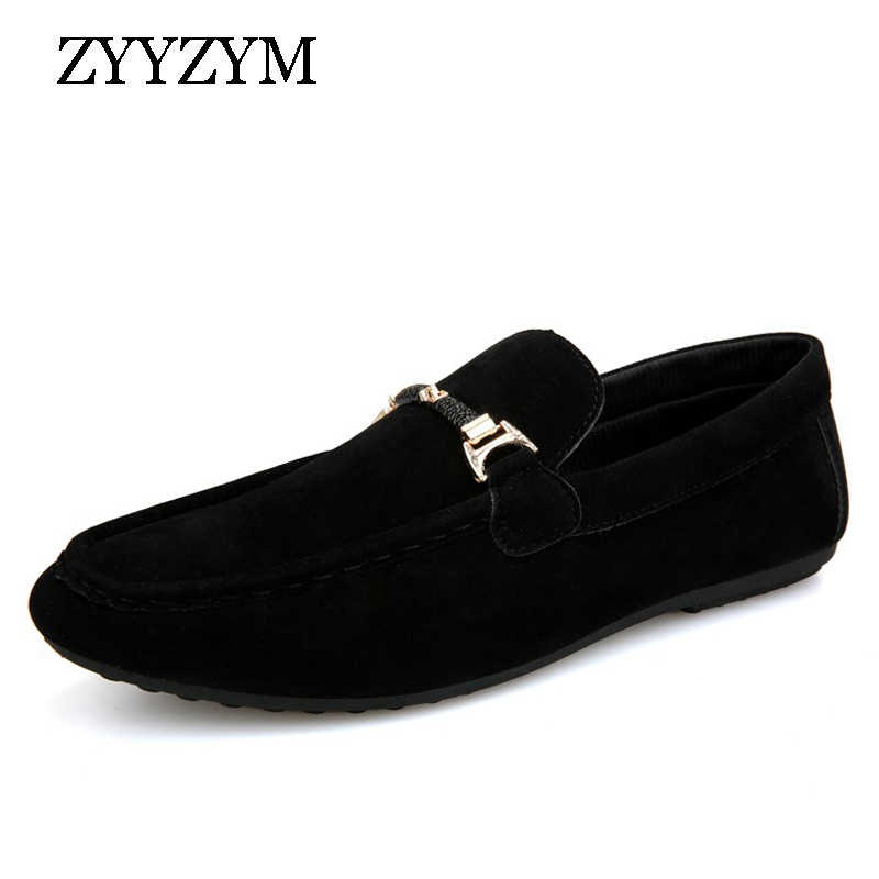 ZYYZYM Men Loafers Shoes Man 2019 Spring Summer Men Casual Shoes Slip On Light Flock Youth Men Shoes Breathable Flat Footwear