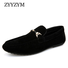 ZYYZYM Men Loafers Moccasins 2019 Spring Summer Casual Shoes Slip On Light Flock Youth Breathable Flat Footwear