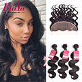 Peruvian Body Wave With Frontal Closure Ear To Ear Lace Frontal Closure With Bundles Peruvian Virgin Hair 3 Bundles With Closure