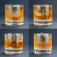Стаканы для виски в старомодном стиле, отлично подходят для коктейлей из бурбоновых пород, стеклянная посуда 380 мл, барная посуда