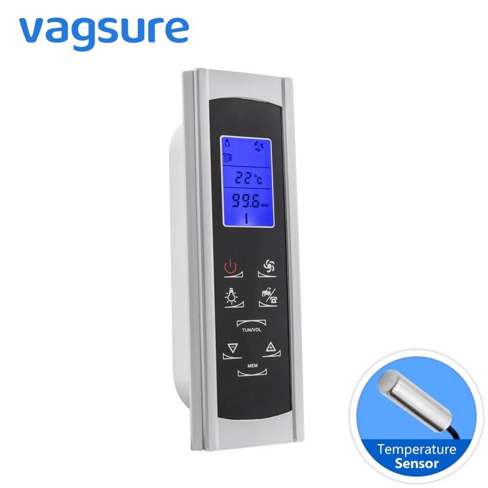 Vagsure 1 pièces contrôleur AC 12 V Induction écran LCD affichage cabine de douche ordinateur panneau de commande FM Radio haut-parleur accessoires
