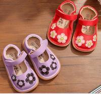 Обувь для девочек цветочные Мэри Джейн цветы От 1 до 3 лет Детская ручной работы nina sapatos bebe chaussure SandQ Детские новыми крюк и петля закрытия