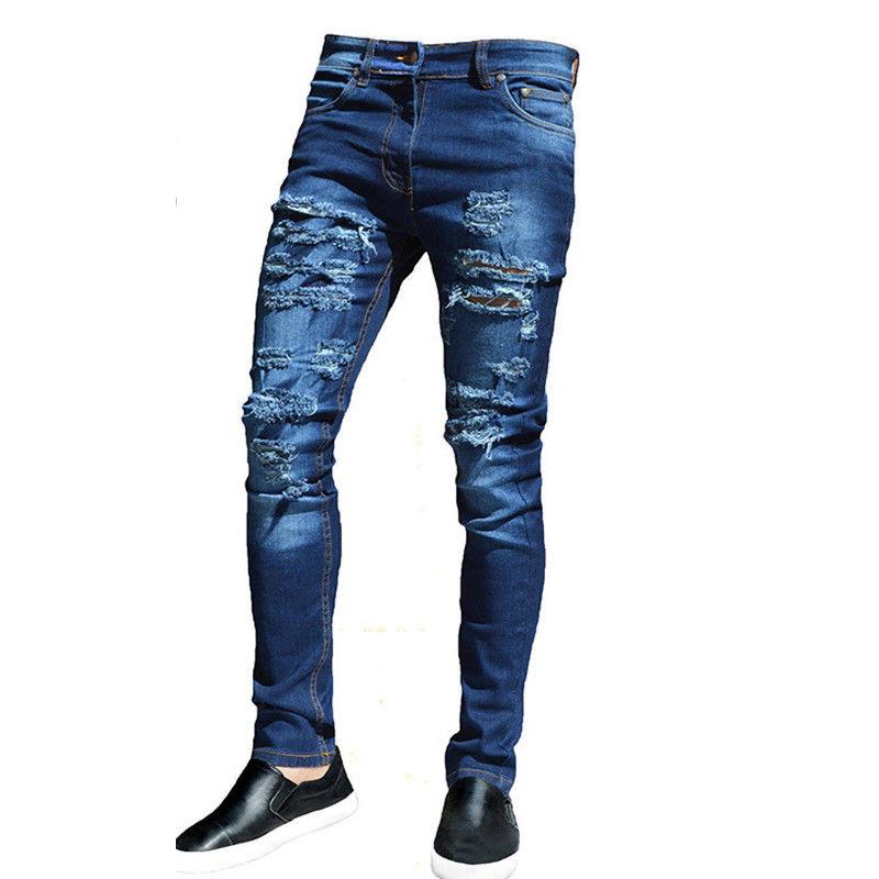 Autumn hip hop ripped jeans for men brand clothes vintage biker jeans blue denim pants hole trousers distressed pencil pants motor jeans men biker street dance jeans luxury designer trousers mens hip hop ripped hole jeans pant males casual brand pants