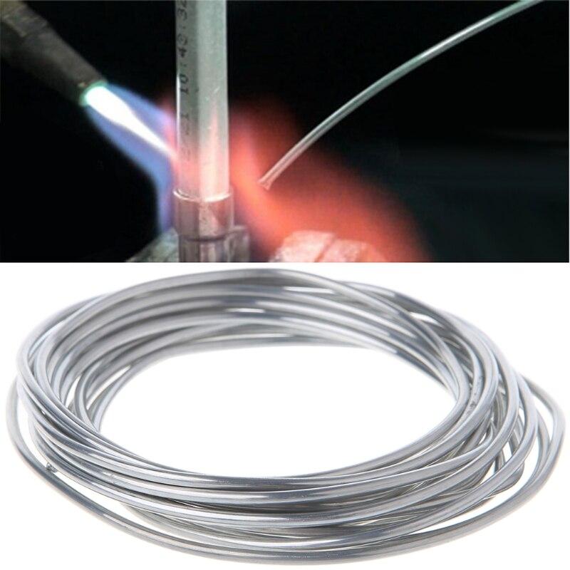 2,00mm * 3 m de aluminio de cobre de alambre de núcleo fundente de baja temperatura aluminio varilla de soldadura LS'D herramienta