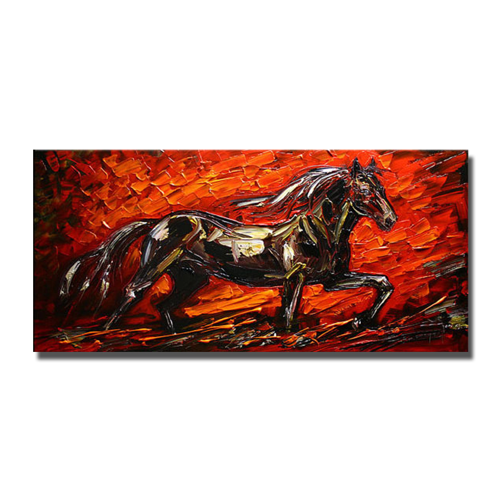 Modern Running Horse Art Painting No Framed and With framed Oil ...
