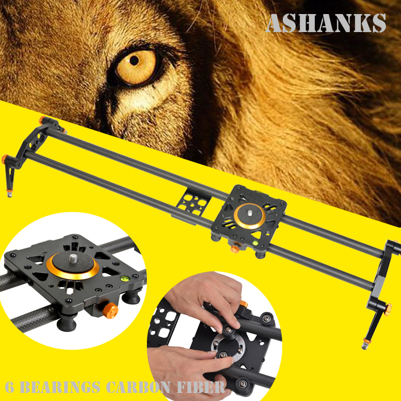 ASHANKS 100cm 6 Bearings Carbon Fiber Track Slider DSLR Camera DV Video Stabilizer Rail Track Slider
