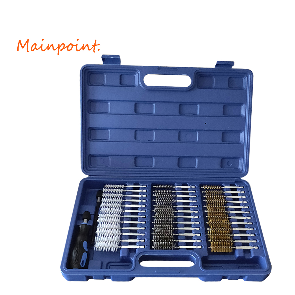 38Pcs Tube Brush Inner Wall Cleaning Brush Replaceable Brush Head Handle Tool Engine Wire Brush Cleaning Kit мр 23 7 матрешка 10м афанасья