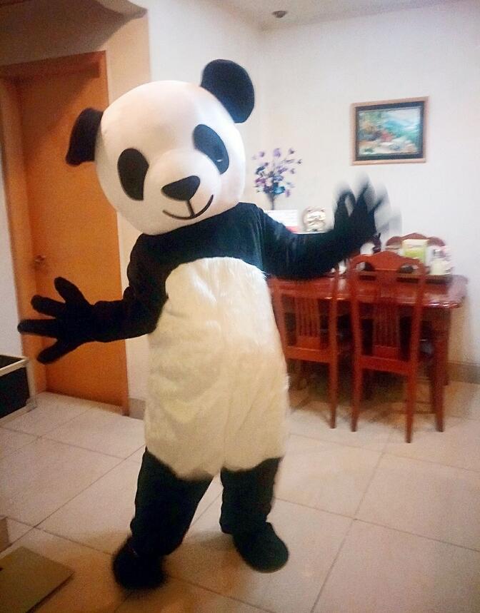 Anime Cartoon Panda Mascot Costume China Cute Panda Advertising Animal Adult Size For Adult Dress