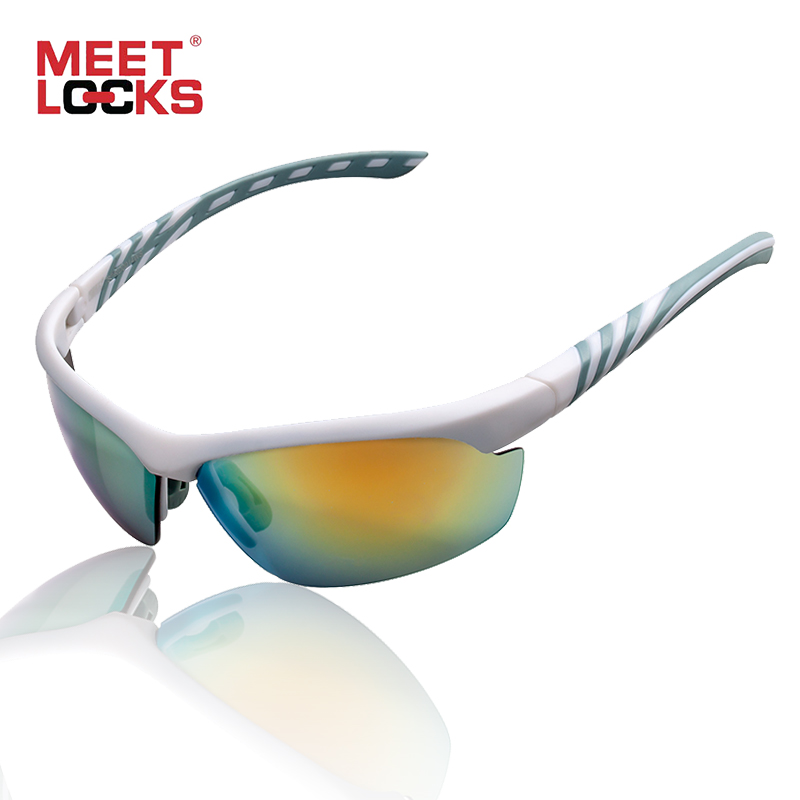 MEETLOCKS Cycling Glasses Sports Sunglasses for Men Women With UV400 Protection for Riding Fishing Driving Golf Running