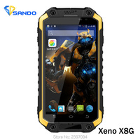 2016 Original Rugged Phone X8G IP68 Android 5 1 MT6735 1 04MHz 2G RAM 16G ROM