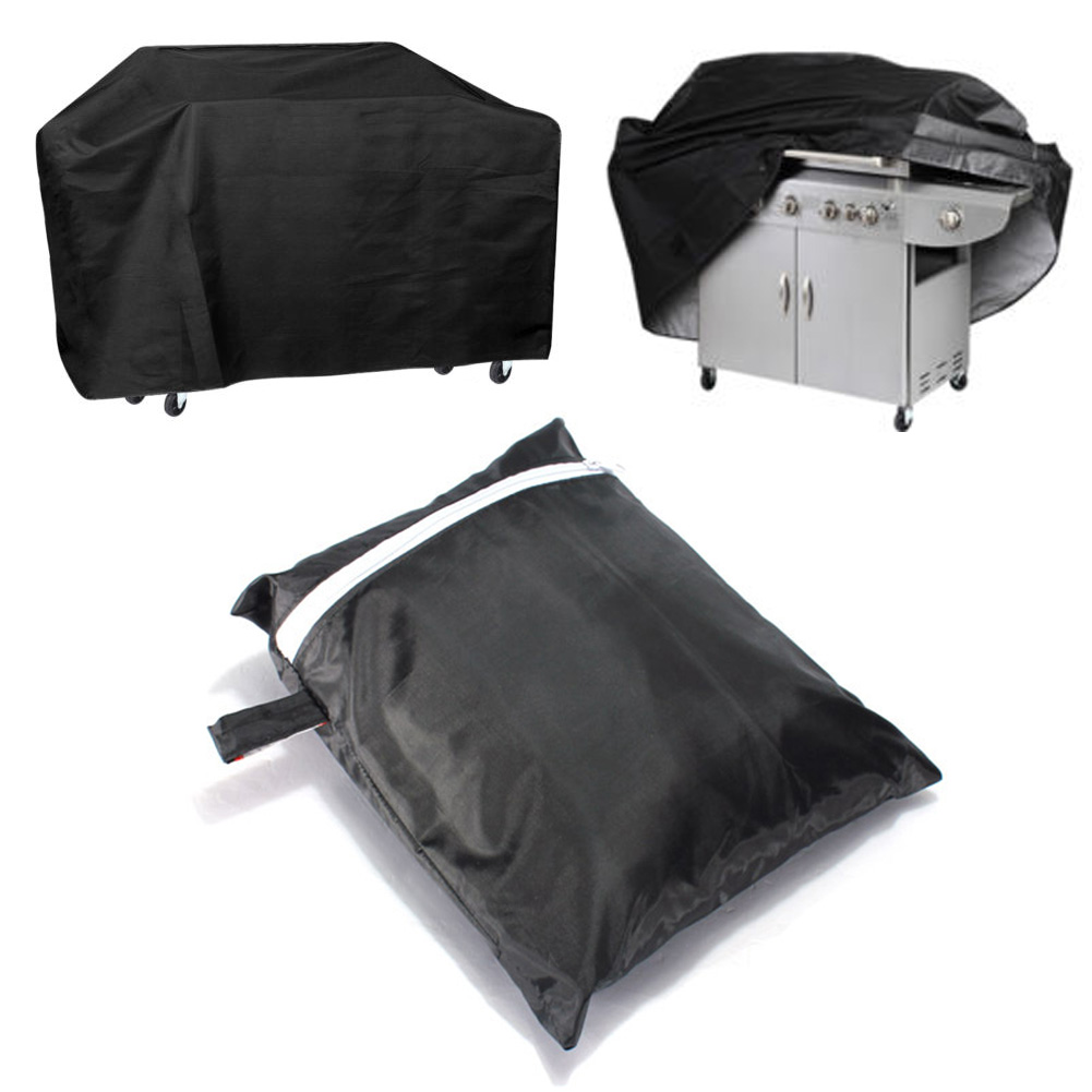 Handing Sewing Outdoor Patio Cart BBQ Cover Rain-Dust Proof Ultraviolet Light Gas Grill Protective Cover