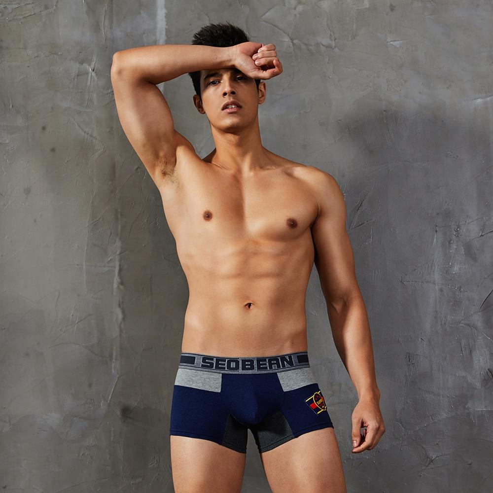 Underwear Boxer Low-Rise Men's Cotton No for Man Mannen Uomo Neopreno Hombre New-Coming