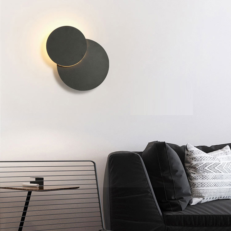 LED Wall Lamp 360 Degree Rotatable Lamp Sconce/Round Plug in Wall Spot for Stairs Living Room Bedroom wall light Rotate lighting