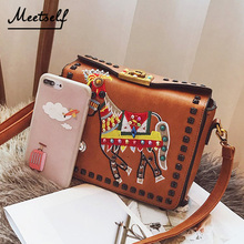 купить MEETSELF Fashion Womens Design Cross Body Bag Ladies Animal Embroidery Shoulder Bag Clutch Bag Luxury Evening Bags HL-17129-2 по цене 3525.55 рублей