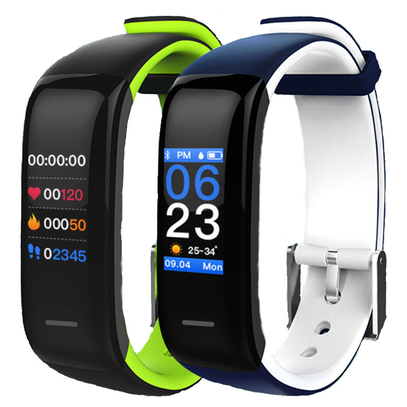 P1 Plus Smart Wristband Heart Rate Monitor Fitness tracker Smartband Bracelet Wrist Band for IOS Android Phone PK Mi Band 2 plus heart