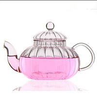 Ücretsiz kargo kabak cam çaydanlık  600 ml baba çiçek çayı demlik  çay su ısıtıcısı