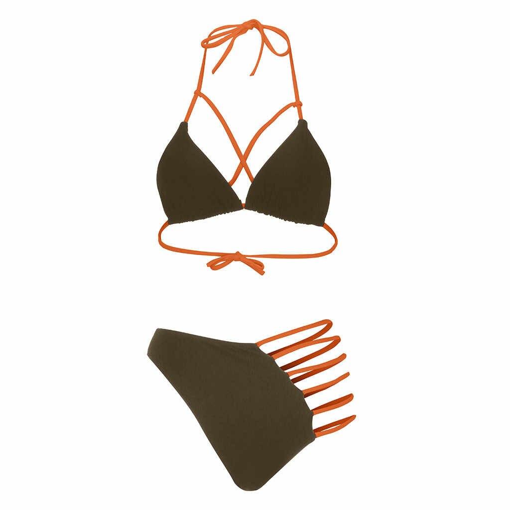 البيكينيات 2019 موهير إمرأة حزام التعادل عقدة الجبهة انقطاع عالية قطع قطعة واحدة ملابس السباحة ملابس السباحة البرازيلي Bahter دعوى لباس سباحة