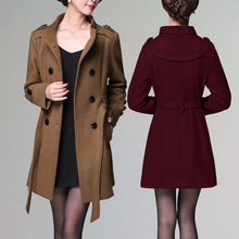 Hot sale 2017 autumn and winter new women trend informal lengthy woolen jacket with dimension code four colours optionally available