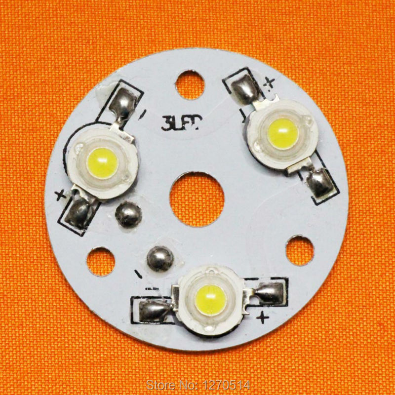 10 pcs/lot, 3W high power LED lamp beads aluminum plate, aluminum plate with welding finished LED lamp beads, DIY accessories