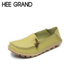 HEE GRAND New Women Flats Summer Style Casual Artificial Leather Platform Flats Spring Shoes Woman 4 Colors Size 35-40 XWC225