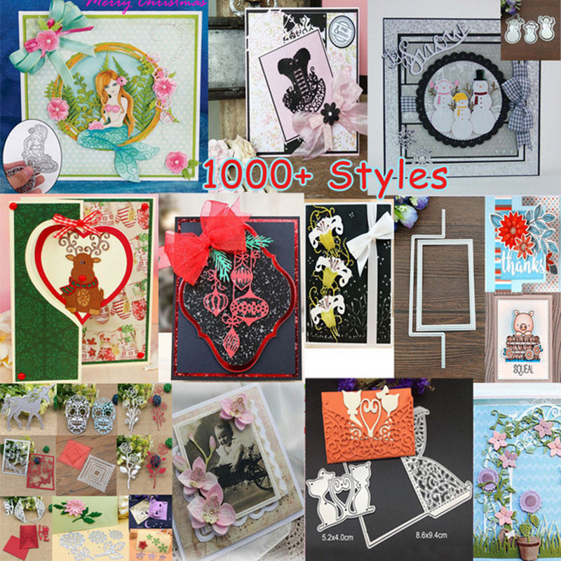 2018 3D New DIY Metal Cutting Dies and Scrapbooking For Paper Making Supplies Embossing Stamps Frame Card Craft Birthday Die