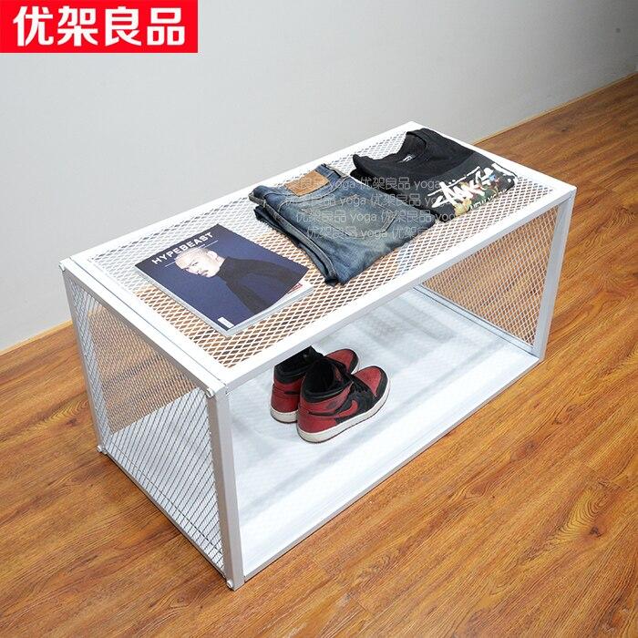 Clothing store design, high and low platform, retro display platform, display rack, bag rack, water table, window display cabine цены онлайн