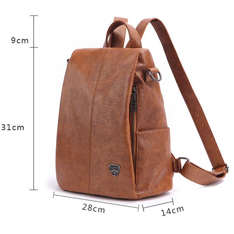 POMELOS Backpack Female New Women PU Leather Backpack Bag Anti Theft High Quality Softback Vintage Travel Backpacks For Girls 1
