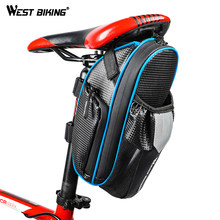 WEST BIKING MTB Bike Waterproof Rear Bag Bicycle Accessories Bike Saddle Bag with Water Bottle Pocket Cycling Rear Seat Tail Bag(China)