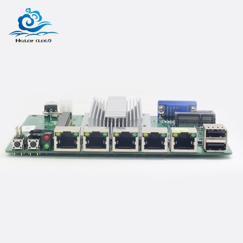 все цены на HLY Motherboard Mini 4 LAN Mini ITX DDR3L Desktop Motherboard Celeron J1900 CPU Fanless ITX Motherboard Mini Mainboard онлайн