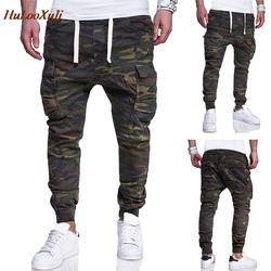 HuLooXuJi Для мужчин Jogger карандашный гаремный штаны камуфляжные военные брюки свободные удобные брюки Camo брюки нам Размеры: M-4XL