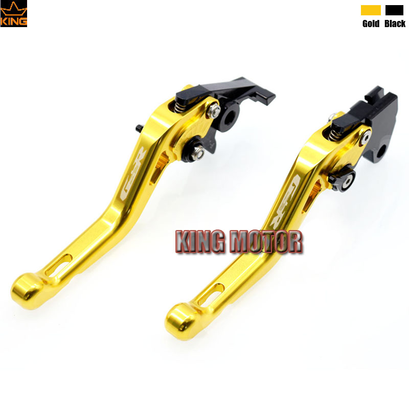 все цены на  Motorcycle Short Brake Clutch Levers Gold For SUZUKI GSR750 GSR 750 2011-2014 GSR600 GSR600 2006-2011 GSR400 2008-2012 LOGO GSR  онлайн
