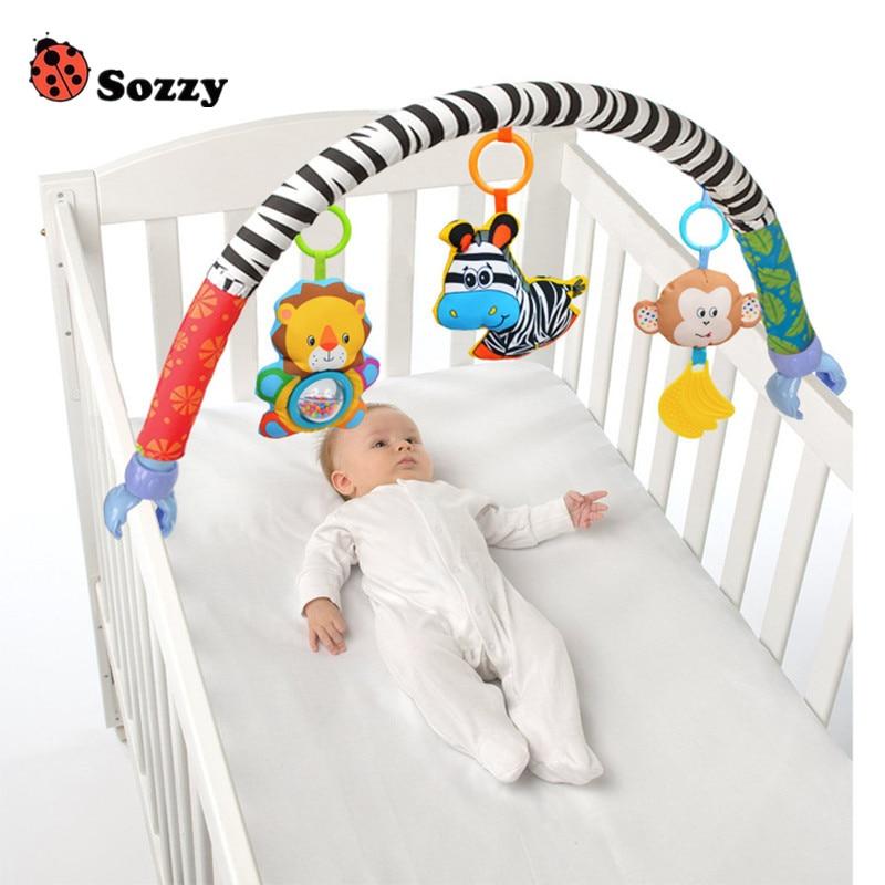 Véritable autorisé Sozzy infantile bébé jouets berceau poussette jouet mignon nouveau-né suspendu bébé hochet anneau cloche doux lit landau musique jouet