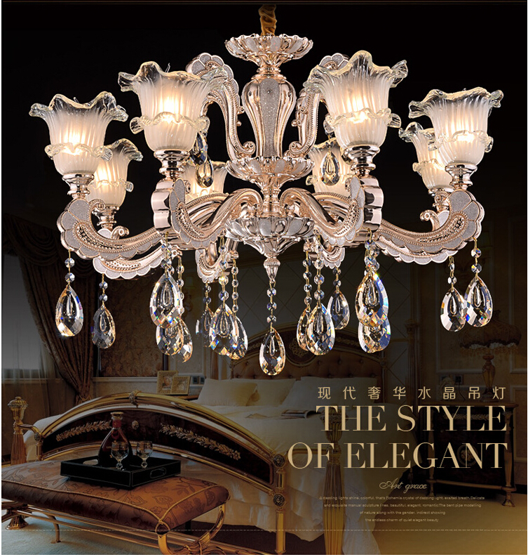6L and 8L Alloy Crystal Candle Chandelier K9 Lustres Light Fixture for Dinning Room Bedroom Foyer Wedding Deco Lamp Lighting car rear trunk security shield cargo cover for subaru tribeca 2013 2014 2015 2016 2017 high qualit black beige auto accessories
