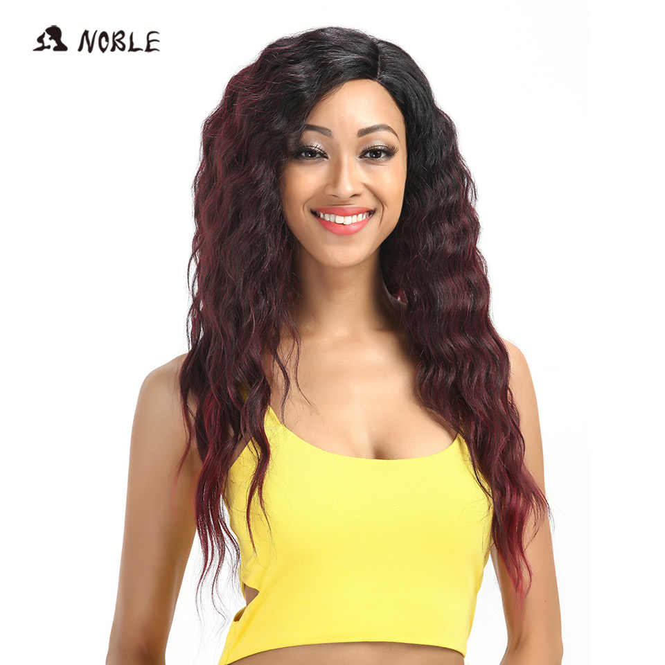 Edle Haar Extensions Spitze Vorne Perücke 28 Inch Lange Tiefe Welle Red African American Synthetische Spitze Vorne Perücke für Frauen