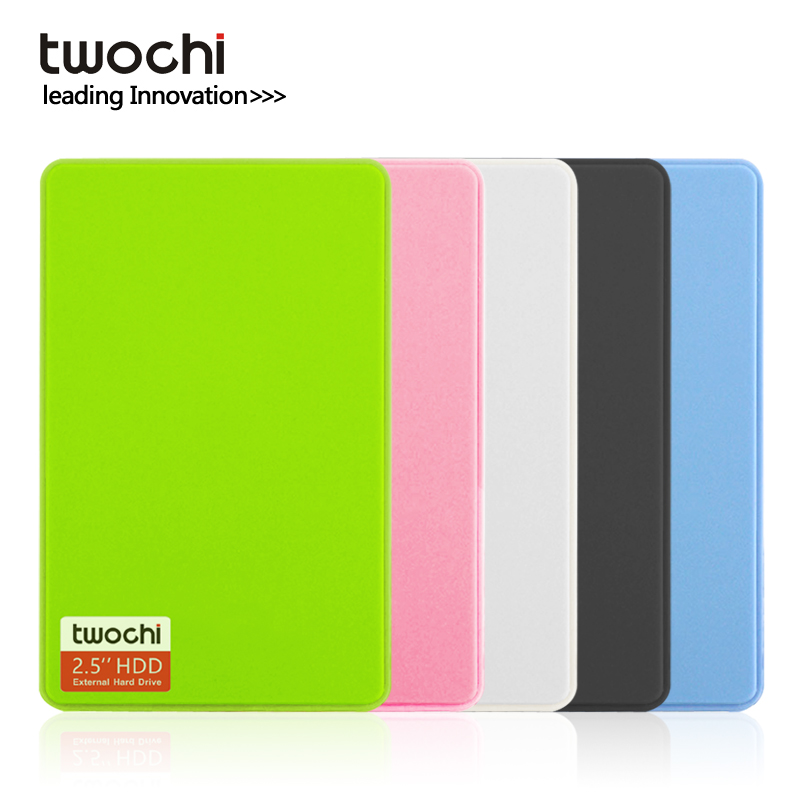TWOCHI A1 2.5'' USB3.0 External Hard Drive 80GB/120GB/160GB/250GB/320GB/500GB Portable HDD Storage Disk Plug and Play for Pc/Mac image